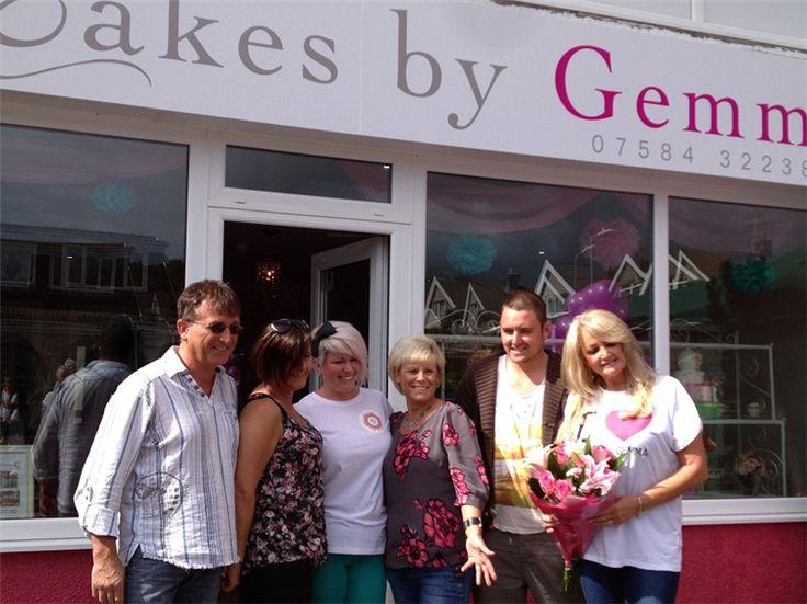 Grand Opening of Cakes By Gemma Brooks, 10/09/13 #BonnieTyler #CakesByGemma #SouthWales #PaulHopkins
