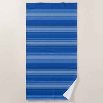 Stripes Lovely Blues Modern Beach Towel - home gifts ideas decor special unique custom individual customized individualized