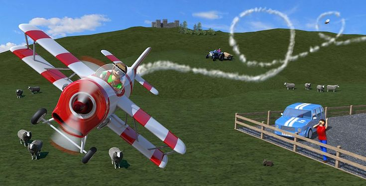 aeroplane illustration from Better Buckle Up, a picture book for children that makes car safety fun by Suzie W http://geni.us/betterbuckleup