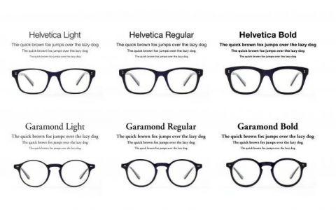 gafas tipográficas. lo último en moda para los ojos de los diseñadores