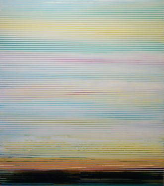 "This brand new painting is titled ""Weaving Landscape - 2""!  It is now on www.Saatchiart.com."