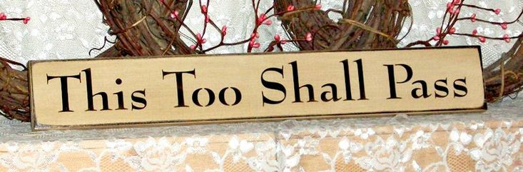 This Too Shall Pass - Primitive Country Painted Wall Sign, Room Decor, Rustic Sign, decorative sign, rustic decor, primitive country decor by thecountrysignshop on Etsy