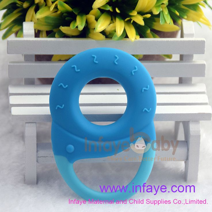 blue best soother rings for baby teething at 3 months