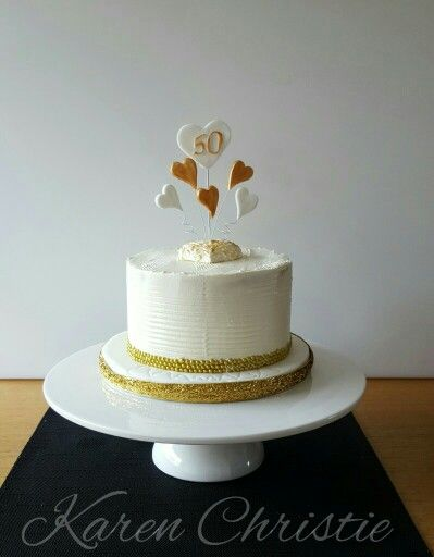 Golden Anniversary carrot cake with cream cheese.