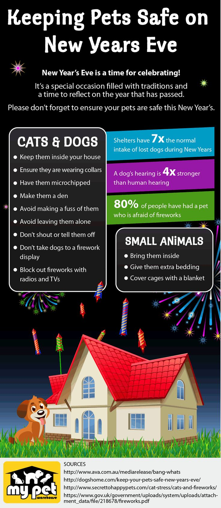 INFOGRAPHIC   Keep Pets Safe On New Year's Eve - My Pet ...