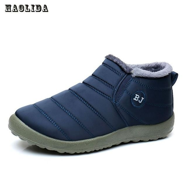 Just $12.87, Buy Waterproof Women Winter Shoes Couple Unisex Snow Boots Warm Fur Inside Antiskid Bottom Keep Warm Mother Casual Boots 35-44 Size