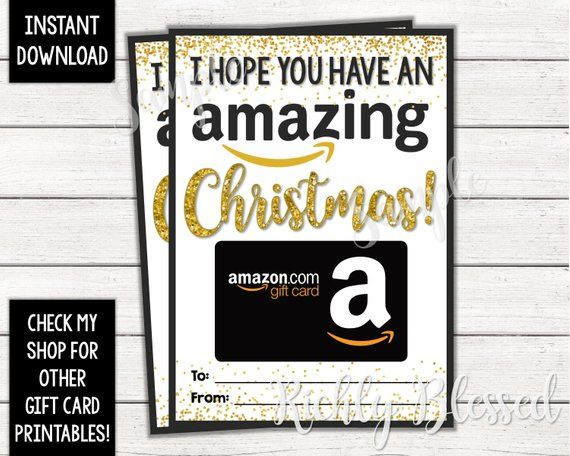 Instant Download Amazon Gift Card Christmas Card Holder Gift Etsy In 2021 Amazon Gift Card Free Amazon Gift Cards Gift Card
