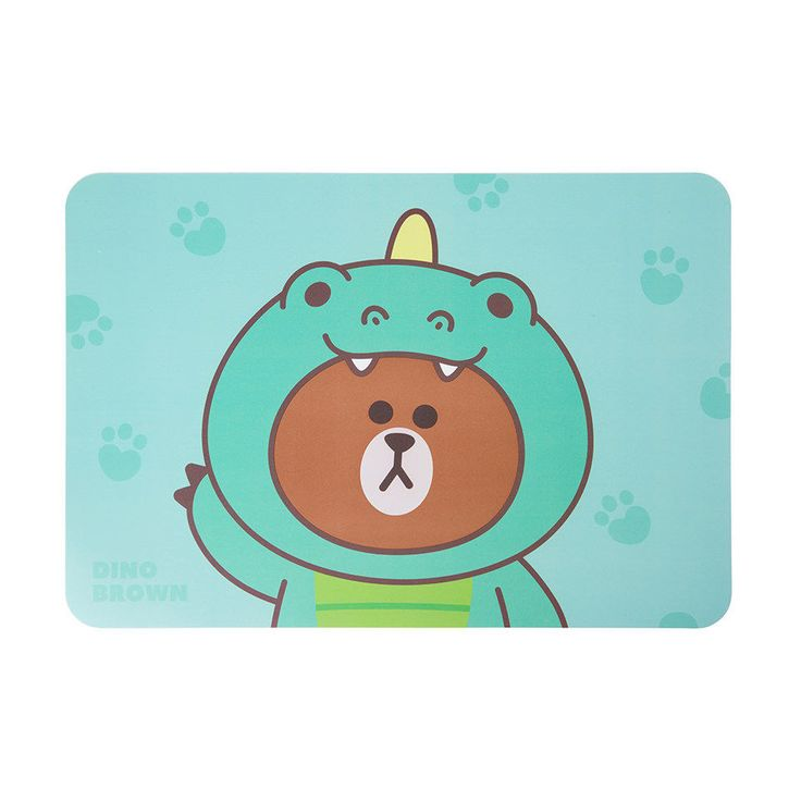 LINE FRIENDS Character Placemat DINO BROWN Official Goods #LINEFRIENDS