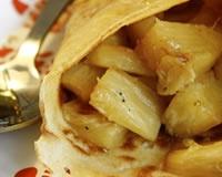 Crêpes à l'ananas poêlé et vanillé