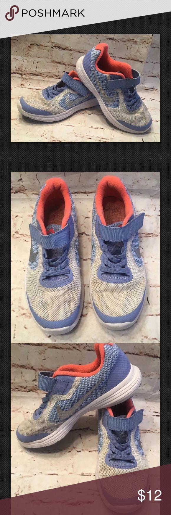 Girl's Nike Revolution 3 Athletic Running Shoe 13 Nike Revolution 3 Sz 13  Shoes show light wear. Nike Shoes Sneakers