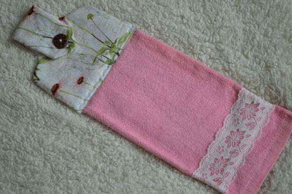 This Listing Is For This Spring Pink Hanging Kitchen Towels The