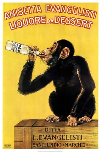 Anisetta Evangelisti | Vintage food & drink poster | #Vintage #Retro #Posters #Affiches #Food #Drinks #Carteles #deFharo