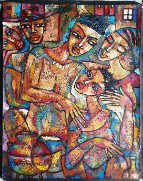 """NETO 2012, """"Ambiente familiar"""" (via Tilandia - Mozambican Art Gallery)"""