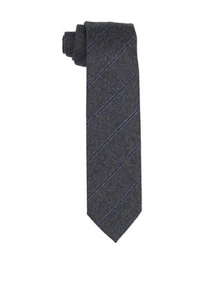 Desanto Men's Diagonal Stripe Scozia Tie, Grey