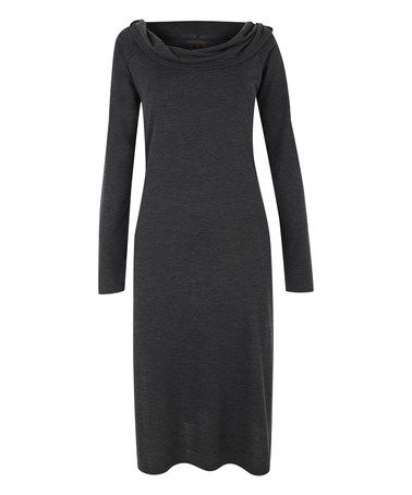 Another great find on #zulily! Gray Cowl-Neck Dress #zulilyfinds