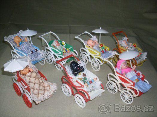 Hračky,chrastítka,dudlík,panenka,kočárek retro staré KOUPÍM - 1