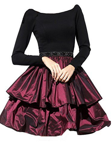 TopProm Women's Long Sleeves Scoop A Line Homecoming Dresses Taffeta, http://www.amazon.com/dp/B01J47KNTC/ref=cm_sw_r_pi_s_awdm_Dx4Lxb2P117Q2