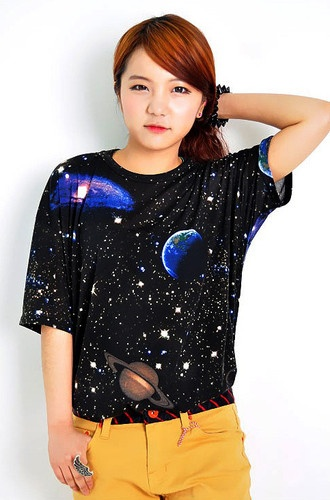New Galaxy printed t-shirts with stellar space graphic shirts tank top tee black