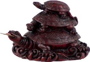 In Feng Shui the 3 turtles represent protection, longevity and family unity.