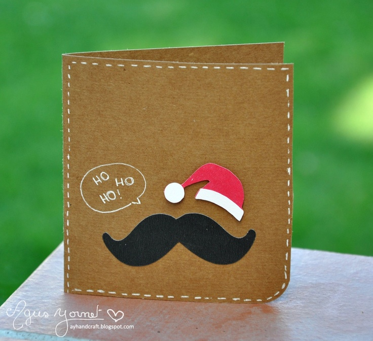 mustache greeting card - Google Search