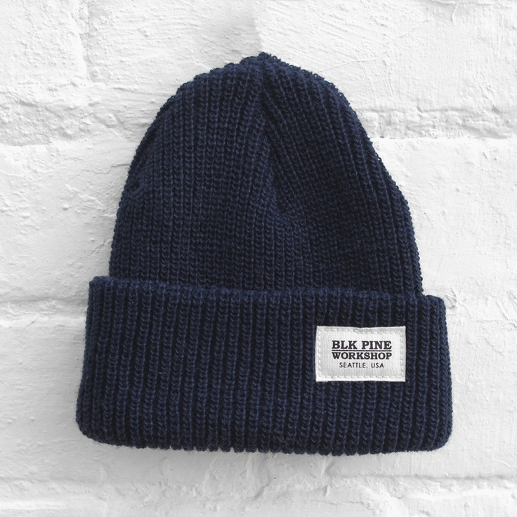 BLK Pine Workshop - Single Gauge Beanie - Navy - £24.99