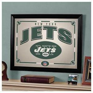 New York Jets NY Framed Mirror Wall Decoration | Basement ideas ...