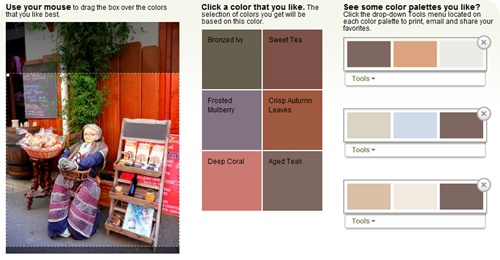 Paint color selection tool! Upload any photo and get paint color suggestions based on the colors in your image.