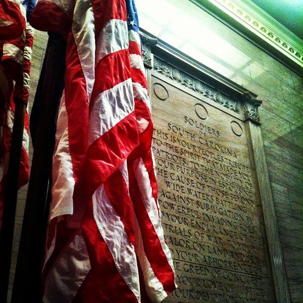 Day 11 of #UofSCPhotoADay: Remembrance. Taken inside the War Memorial building on campus.