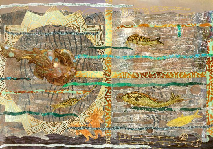 mixed media 110 gelli plate, sjablonen, collage, posca