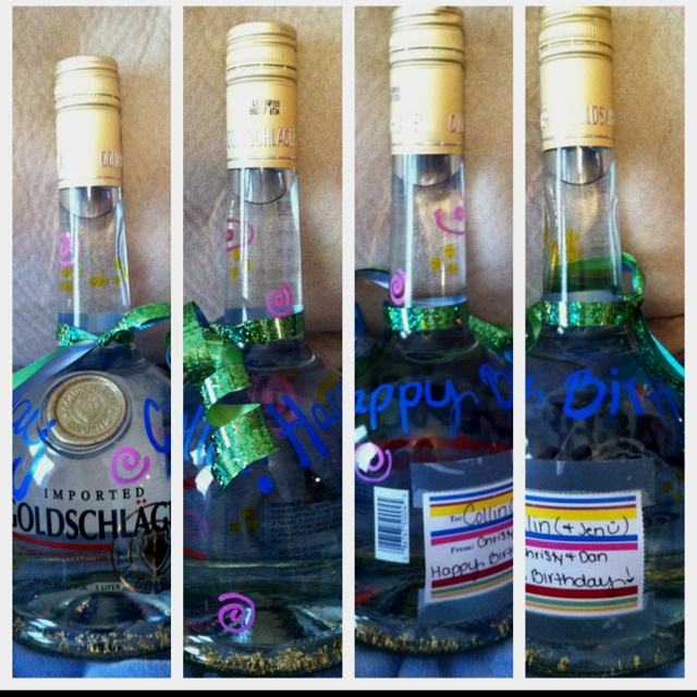 Decorated Alcohol Bottles For Birthday