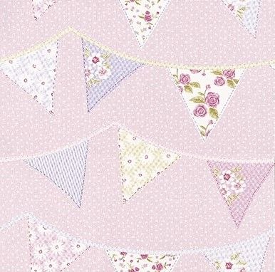 Bunting Pink wallpaper by Albany