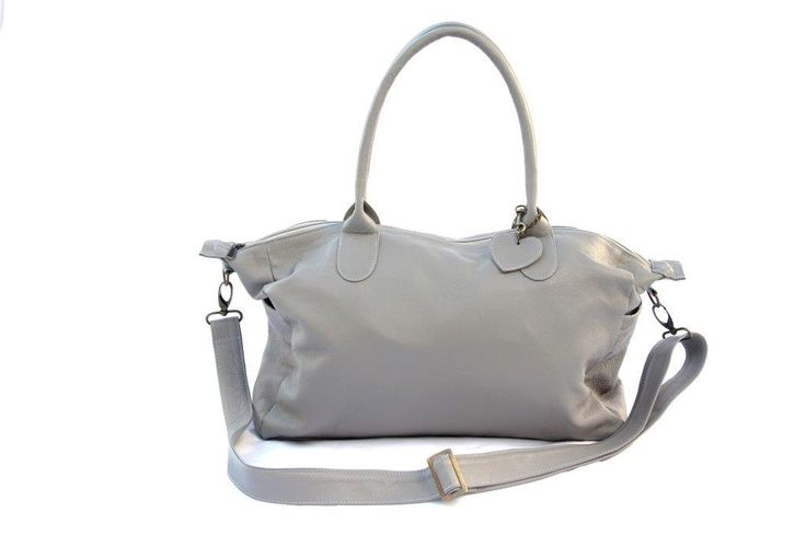 Mally Grey Leather Baby Bag