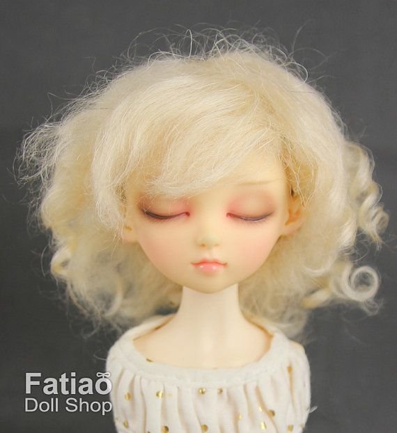 Dolls Wig 7-8  Condition : 100% Brand New Size : 7-8 inch, fit for MSD, Kaye Wiggs, 1/4 BJD Material : Mohair Color : Blonde  Re-Mark : 1. Wig Only, doll and other things not included. 2. The color in the image could look slightly different from the actual product.