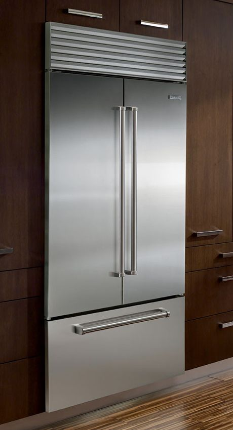 Sub-Zero refrigerators with internal ice and water dispenser