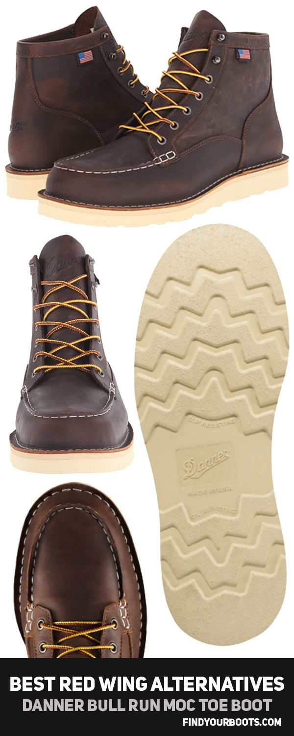 Danner Bull Run Moc Toe Men's Boot - Boots like Red Wing but cheaper - http://www.findyourboots.com/cheaper-alternatives-to-red-wing-heritage-boots/