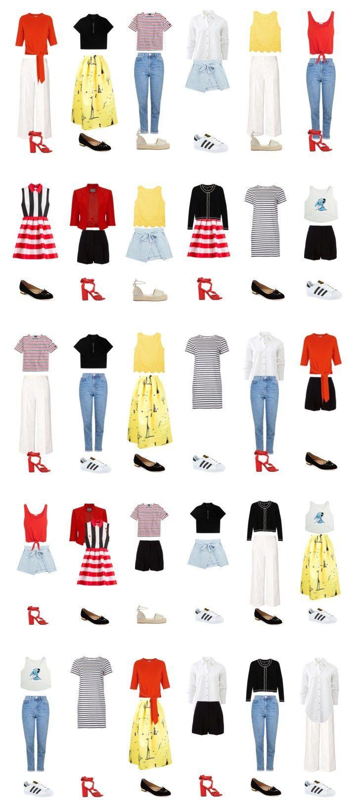 Капсульный гардероб на лето: <br> 30 образов из 20 вещей для работы и отдыха