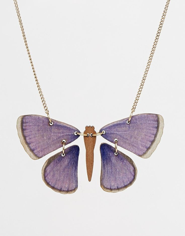 Image 1 of Tatty Devine Butterfly Necklace