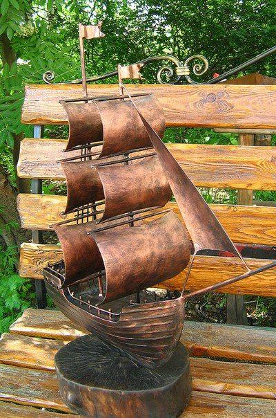 Metal art -Ship