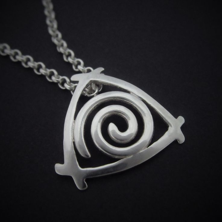 Handmade Silver Celtic Newgrange Spiral Pendant