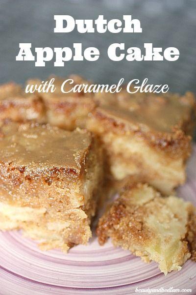 Dutch Apple Cake with Caramel Glaze @Jen (Balancing Beauty and Bedlam/10 Minute Dinners blogs)