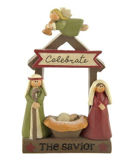 'Celebrate the Savior' Nativity Scene Figurine
