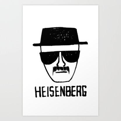 Heisenberg - Breaking Bad Sketch Art Print by Bright Enough | Society6