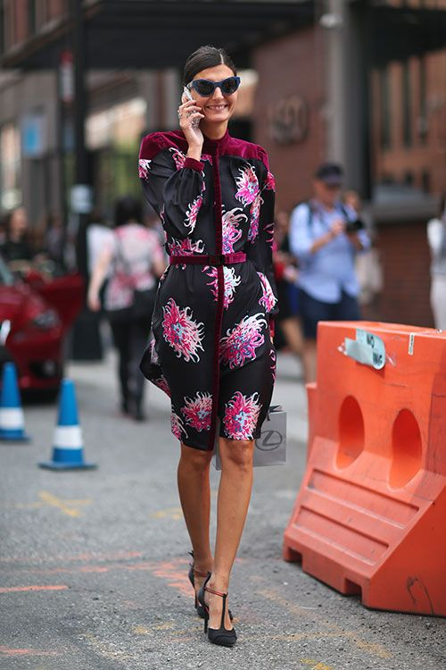 Giovanna Battaglia at Sp14 NY Fashion week.  Love love love…there she goes again!