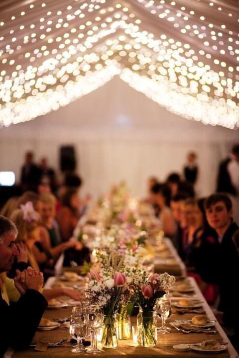 Katie + Mark's Country Wedding / Twinkly Lights / Wedding Style Inspiration / LANE