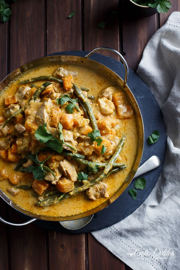 Chicken and Butternut Pumpkin Korma Curry | http://cafedelites.com