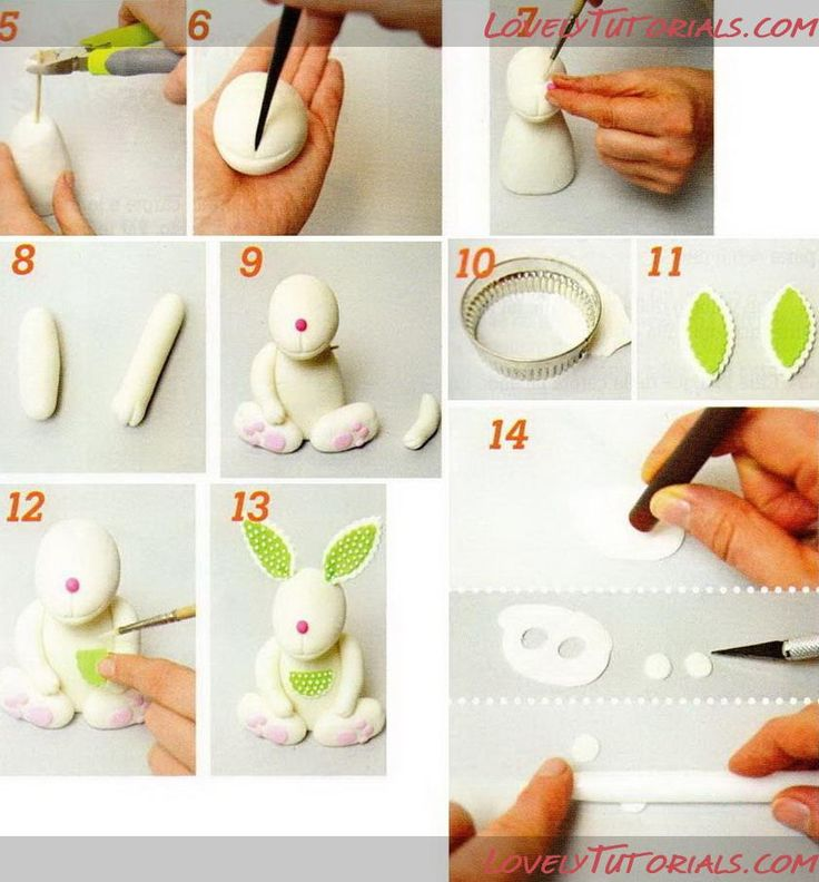 Bunny Polymer Clay or Fondant Tutorial