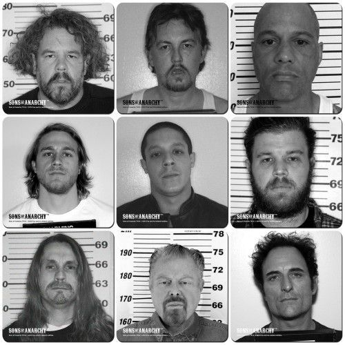 Sons of Anarchy Mugshot Coaster Set of 9