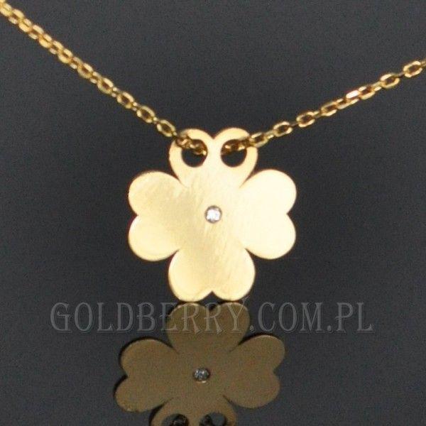 #Good #Luck #Złoty #naszyjnik #koniczynka #goldberry