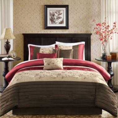 Madison Park Belle 7 Pc Comforter Set Duvet Cover Setsqueen