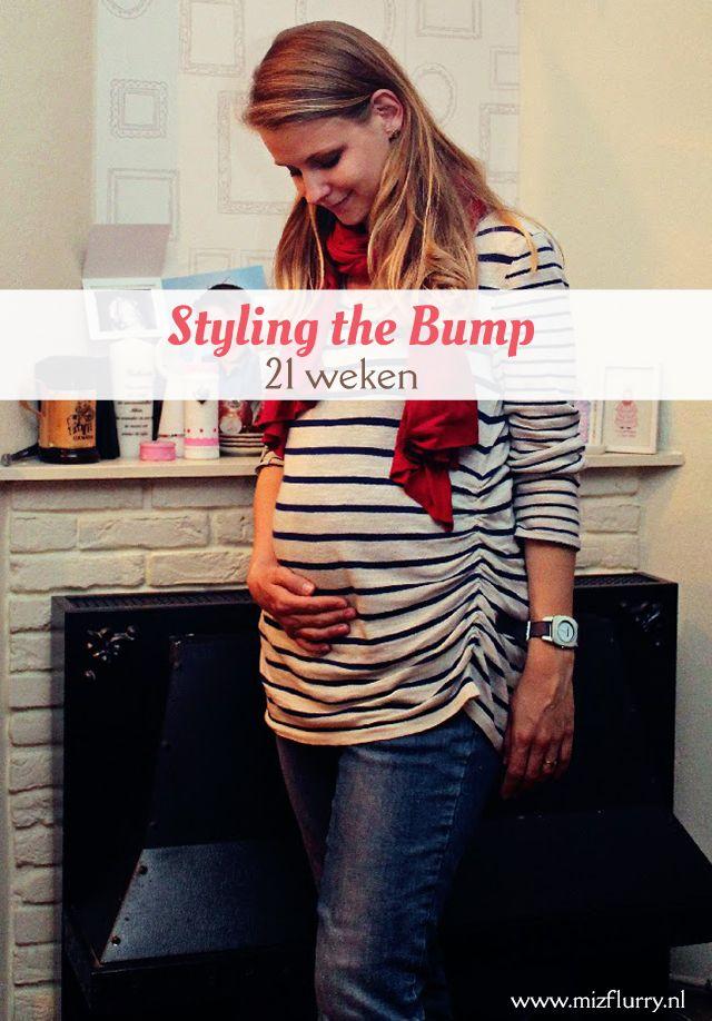Tiende post uit de serie Styling the Bump, waarin ik mijn zwangerschapsoutfits toon van toen ik zwanger was van Kate. -21 weken zwanger.